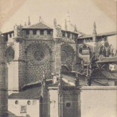 Postales: TARJETA POSTAL DE TOLEDO. ABSIDE DE LA CATEDRAL. 1358 HAUSER Y MENET.- MADRID.. Lote 6139398