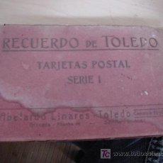 Postales: RECUERDO DE TOLEDO. 24 TARJETAS POSTALES. SERIE I. ABELARDO LINARES. TOLEDO. COMERCIO 56-57. . Lote 26992811