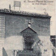 Postales: 47.TOLEDO PUERTA DEL CORRAL DE DON DIEGO.CIRCULADA.VER FOTO ADICIONAL.. Lote 8061076