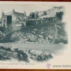 Postales: ANTIGUA POSTAL DE TOLEDO N. 801 - EL PUENTE DE ALCANTARA Y EL ALCAZAR. HAUSER Y MENET - SIN CIRCULAR. Lote 8653740
