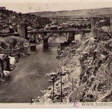 Postales: TOLEDO. PUENTE DE SAN MARTÍN. FRANQUEADA Y FECHADA EN 1948. Lote 23057035