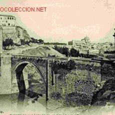 Postales - TOLEDO, PUENTE DE ALCANTARA Y LAS COVACHUELAS, REVERSO SIN DIVIDIR - 25298245