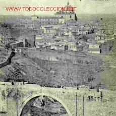 Postales - TOLEDO, PUENTE DE ALCANTARA Y LAS COVACHUELAS, REVERSO SIN DIVIDIR - 1605290