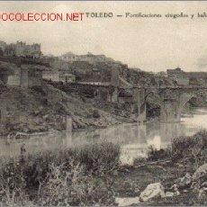 Postales: TARJETA POSTAL TOLEDO Nº42 - FORTIFICACIONES VISIGODOS Y BAÑOS DE LA CAVA. Lote 5024083
