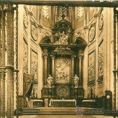 Postales: CUENCA. CATEDRAL. ALTAR MAYOR, DE CERCA. POSTAL TONOS MARRONES, C. 1930-1950. CU . Lote 20579793