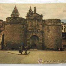 Postales: POSTAL TOLEDO PUERTA DE VISAGRA BISAGRA COLOR AÑOS 50. Lote 12237302