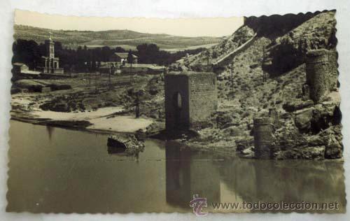 POSTAL TOLEDO BAÑO DE LA CAVA EN EL TAJO AÑOS 50 (Postales - España - Castilla la Mancha Moderna (desde 1940))