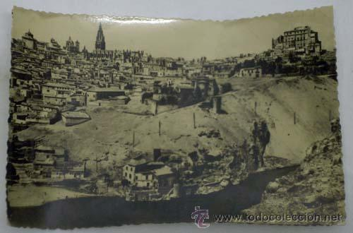 POSTAL TOLEDO VISTA GENERAL PANORÁMICA AÑOS 50 (Postales - España - Castilla la Mancha Moderna (desde 1940))