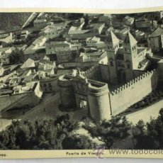 Postales: POSTAL TOLEDO AÉREO PUERTA DE VISAGRA BISAGRA AÑOS 40. Lote 12448613