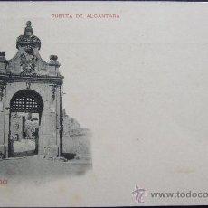 Postales: TOLEDO – PUERTA DE ALCÁNTARA - DORSO INDIVISO CON ESCUDO. Lote 25254288
