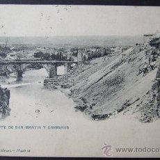 Postales: TOLEDO – PUENTE DE SAN MARTÍN Y CARRERAS – 1332 HAUSER Y MENET. Lote 25330712