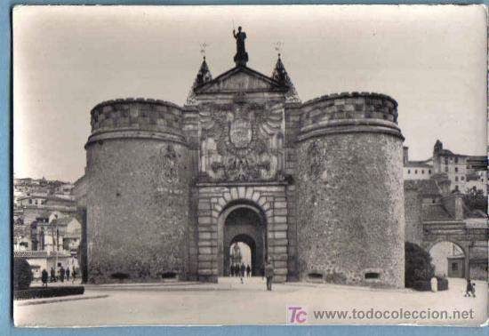 TOLEDO. PUERTA DE VISAGRA. HELIOTIA ARTISTICA ESPAÑOLA. 1963 (Postales - España - Castilla la Mancha Moderna (desde 1940))