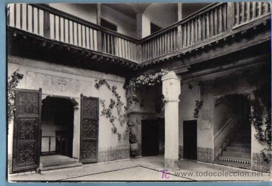 TOLEDO. PATIO DE LA CASA DEL GRECO. HELIOTIA ARTISTICA ESPAÑOLA. 1963 (Postales - España - Castilla la Mancha Moderna (desde 1940))