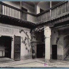 Postales: TOLEDO. PATIO DE LA CASA DEL GRECO. HELIOTIA ARTISTICA ESPAÑOLA. 1963. Lote 12780471