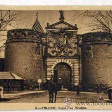 Postales: POSTAL TOLEDO PUERTA DE LA BISAGRA VISAGRA AÑOS 40. Lote 12761000