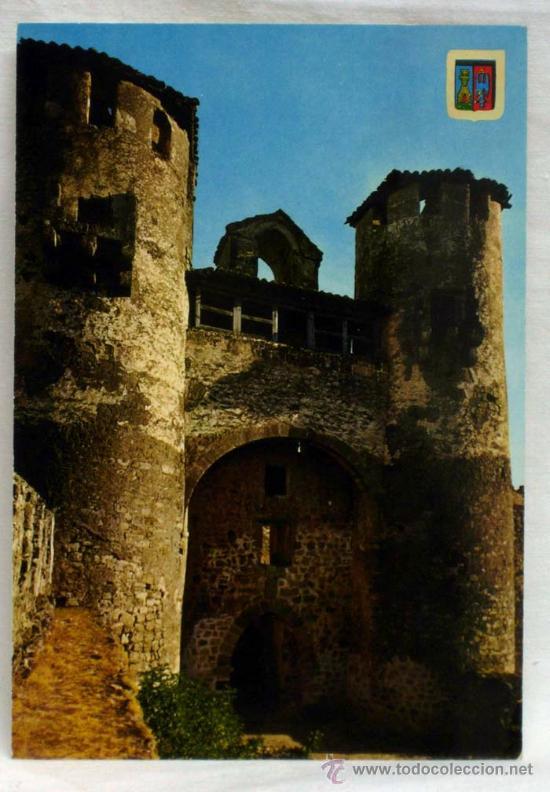 POSTAL SIGÜENZA GUADALAJARA ENTRADA CASTILLO AÑOS 70 (Postales - España - Castilla la Mancha Moderna (desde 1940))