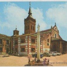 Postales: TARJETA POSTAL IGLESIA CONCATEDRAL SANTA MARIA LA MAYOR GUADALAJARA SEAT 600. Lote 19565491