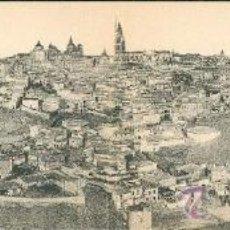 Postales: TOLEDO – VISTA GENERAL PANORÁMICA – POSTAL DOBLE – HELIOTIPIA ARTÍSTICA ESPAÑOLA. . Lote 25082724