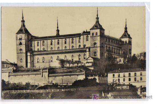 1 TOLEDO - EL ALCÁZAR, ANTES DEL ASEDIO -HELIOTIPIA ARTISTICA ESPAÑOLA - MADRID (Postales - España - Castilla la Mancha Moderna (desde 1940))