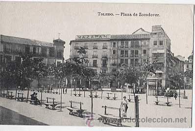 TOLEDO. PLAZA ZOCODOVER. FOTOTIPIA J. ROIG. SIN CIRCULAR (Postales - España - Castilla La Mancha Antigua (hasta 1939))
