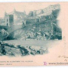 Postales: TARJETA POSTAL DE TOLEDO. EL PUENTE DE ALCANTARA Y EL ALCAZAR. 804 HAUSER Y MENET. Lote 13900937