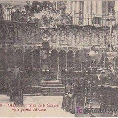 Postales: PS2361 TOLEDO 'INTERIOR DE LA CATEDRAL, VISTA GENERAL DEL CORO'. SIN CIRCULAR. Lote 13946039