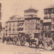 Postales: TOLEDO: PLAZA DE ZOCODOVER 1931 EN PRECIOSA TARJETA CIRCULADA A INGLATERRA: AMBULANTE NORTE EXPRES. Lote 22799280