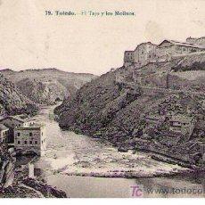 Postales: TOLEDO.-EL TAJO Y LOS MOLINOS.FRANQUEADA Y FECHADA AGOSTO DE 1918. Lote 14307911