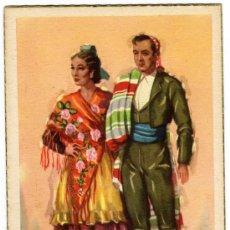 Postales: BONITA POSTAL - CIUDAD REAL - PAREJA CON TRAJE REGIONAL . Lote 17696291