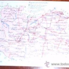 Postales: POSTAL MAPA CIUDAD REAL - ALBERTO MARTIN. Lote 21890011