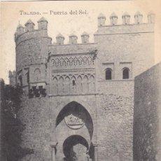 Postales: TOLEDO: PUERTA DEL SOL: BONITA TARJETA POSTAL FOTOTIPIA J. ROIG - MADRID, SIN USAR.. Lote 16202723