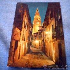 Postales: POSTAL TOLEDO CALLE TIPICA Y TORRE DE LA CATEDRAL ESCRITA. Lote 16420324