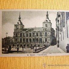 Postales: 1930C. – TOLEDO. AYUNTAMIENTO. POSTAL. Lote 27510907