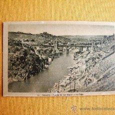 Postales: 1930C. – TOLEDO. PUENTE DE SAN MARTÍN. POSTAL. Lote 27133721