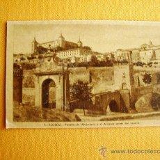 Postales: 1920C. – TOLEDO. PUENTE DE ALCÁNTARA Y ALCÁZAR ANTES DEL ASEDIO. POSTAL. Lote 27133734