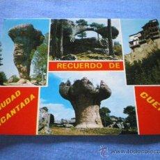 Postales: POSTAL CUENCA CIUDAD ENCANTADA RECUERDO DIVERSOS ASPECTOS NO CIRCULADA. Lote 17416208