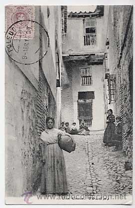 TOLEDO. UNA CALLE. ED. COMERCIO 1 GONZALEZ. CIRCULADA (Postales - España - Castilla La Mancha Antigua (hasta 1939))