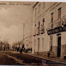 Postales: VALDEPEÑAS(CIUDAD REAL).-PASEO DE LA ESTACIÓN. Lote 18131771