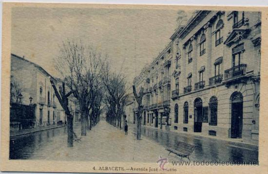 ALBACETE.-AVENIDA JOSE ANTONIO (Postales - España - Castilla La Mancha Antigua (hasta 1939))