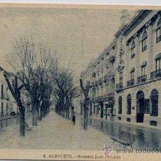 Postales: ALBACETE.-AVENIDA JOSE ANTONIO. Lote 18588194