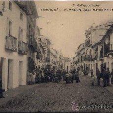 Postales: ALMADÉN(CIUDAD REAL).-CALLE MAYOR DE LA PLAZA. Lote 18605328