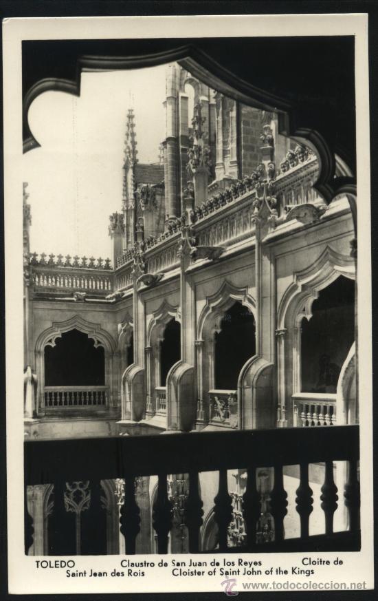 POSTAL DE TOLEDO CLAUSTRO DE SAN JUAN DE LOS REYES (Postales - España - Castilla la Mancha Moderna (desde 1940))