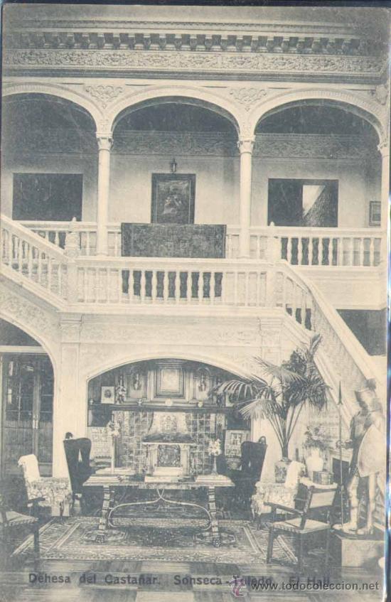 SONSECA(TOLEDO).-DEHESA DEL CASTAÑAR.- EL HALL (Postales - España - Castilla La Mancha Antigua (hasta 1939))