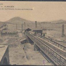 Postales: ALMADÉN (CIUDAD REAL).- CERCO DE BUITRONES.PLANO AUTOMOTOR. Lote 18853509
