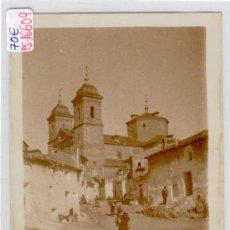 Postales: (PS-16609)POSTAL FOTOGRAFICA DE ELCHE DE LA SIERRA(ALBACETE)-IGLESIA Y CASAS. Lote 19000448
