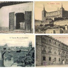 Postales: TOLEDO, 4 POSTALES, EDIT. 2 CASTAÑEIRA Y ALVAREZ, 1 GRAFOS, 1 FOT. LINARES TOLEDO, MUY INTERESANTES.. Lote 27241703