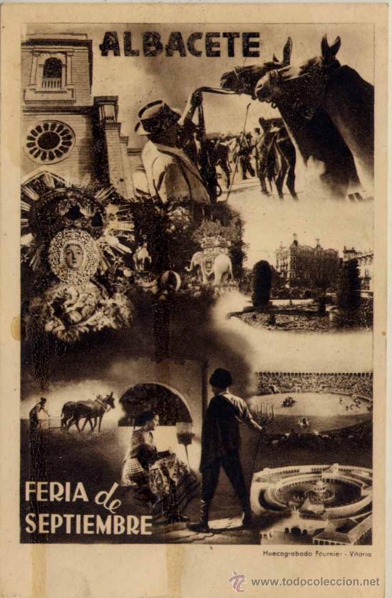 ALBACETE.-FERIA DE SEPTIEMBRE (Postales - España - Castilla La Mancha Antigua (hasta 1939))
