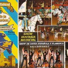 Postales: TOLEDO, CASTILLO MEDIEVAL COMTE DE VALLTORDERA, SHOW. Lote 21001066