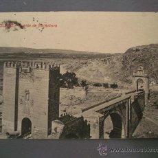 Postales: POSTAL DE TOLEDO, PUENTE DE ALCANTARA (CIRCULADA 1912, FOTOTIPIA CASTAÑEIRA Y ALVAREZ, MADRID). Lote 21352782