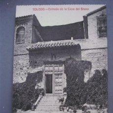 Postales: POSTAL DE TOLEDO, ENTRADA DE LA CASA DEL GRECO ( SIN CIRCULAR, FOTOTIPIA CASTAÑEIRA Y ALVAREZ). Lote 21353582